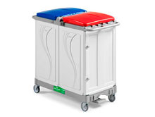 Waste collection trolley